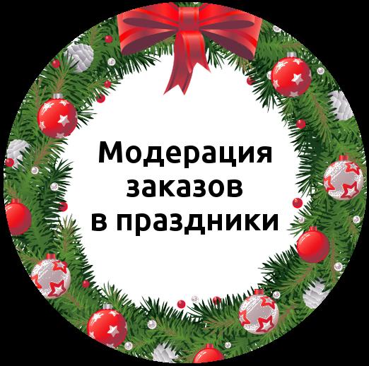Режим работы модерации заказов в Новогодние каникулы